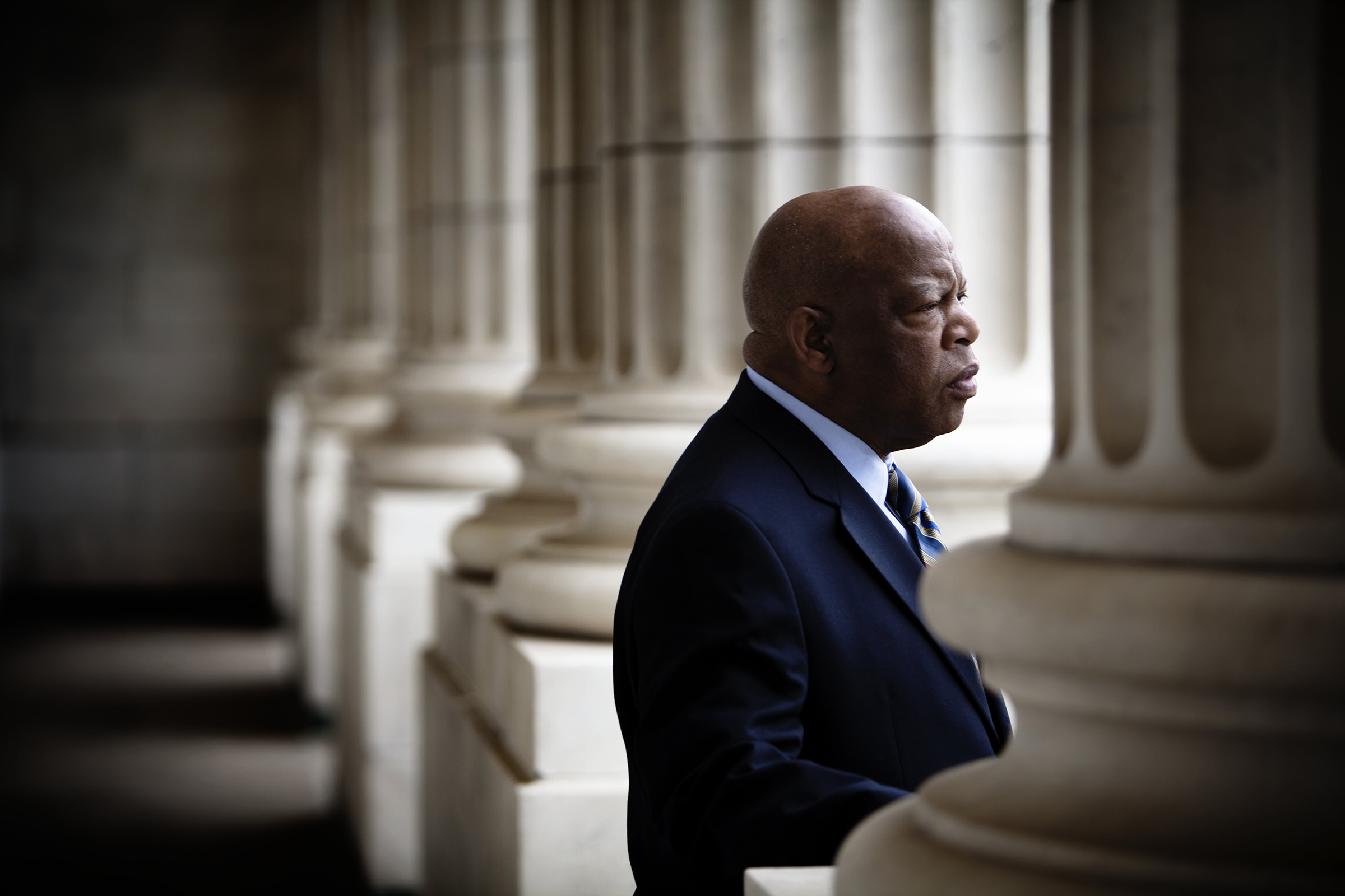 Congressman John Lewis (D-GA) is photographed in his offices in the Canon House office building in Washington, D.C., on March 17, 2009.