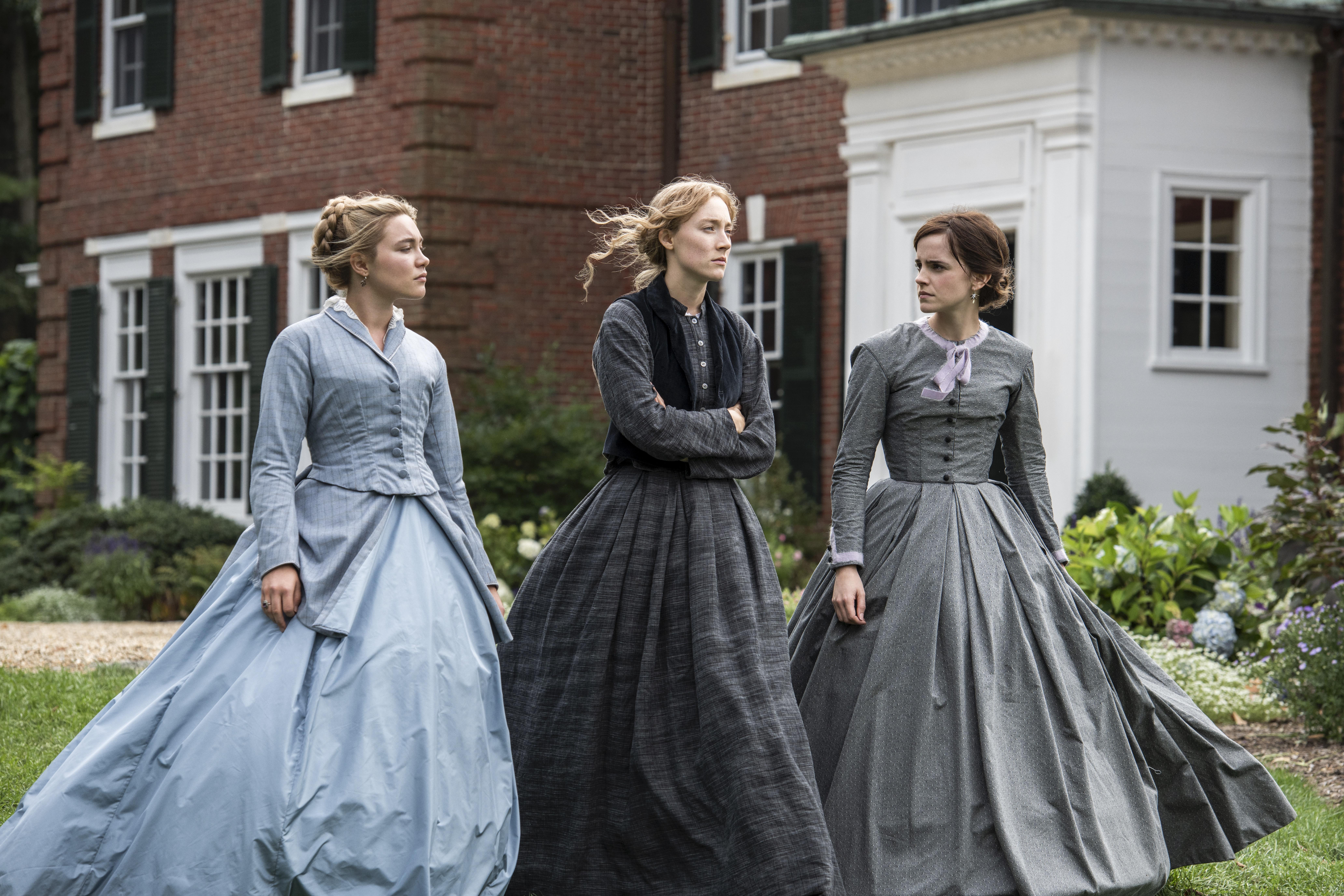 Florence Pugh, Saoirse Ronan and Emma Watson in Greta Gerwig's 'Little Women.'