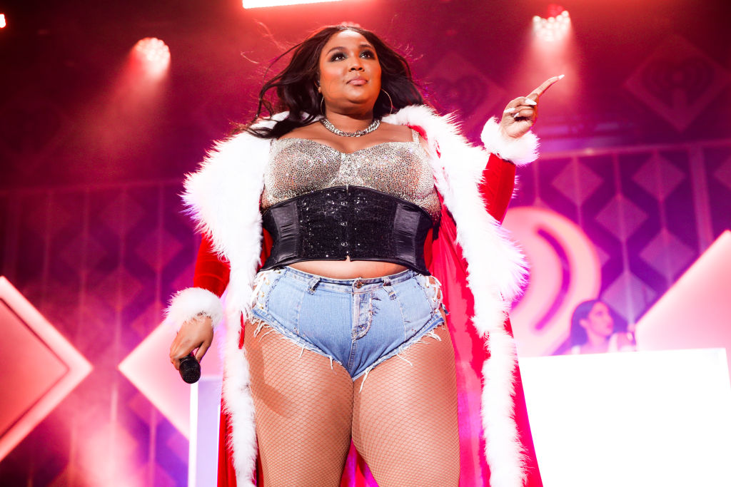 Lizzo performs onstage during 102.7 KIIS FM's Jingle Ball 2019 Presented by Capital One at the Forum on Dec. 6, 2019 in Los Angeles, California.