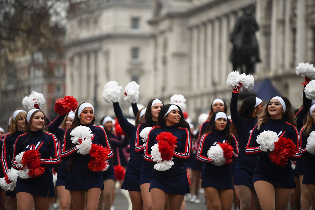 Performers during the New Year's Day Parade in London on Jan. 1, 2020.