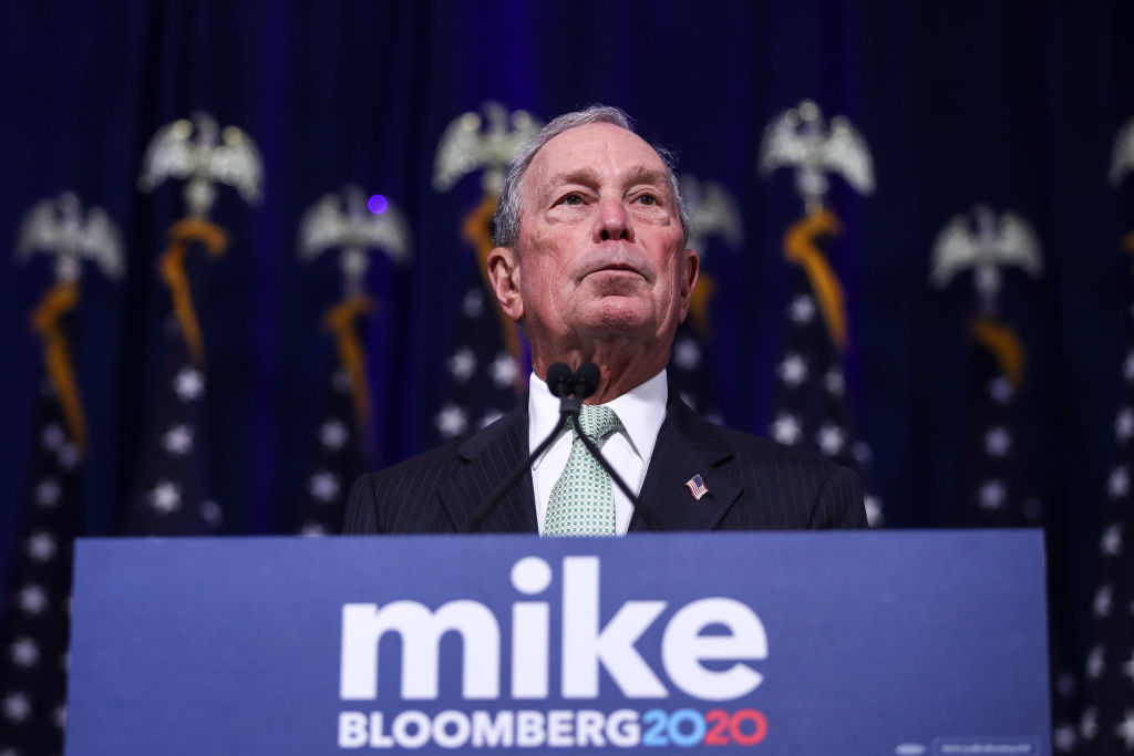 Newly announced Democratic presidential candidate, former New York Mayor Michael Bloomberg speaks during a press conference in Norfolk, Virginia on Nov. 25, 2019.