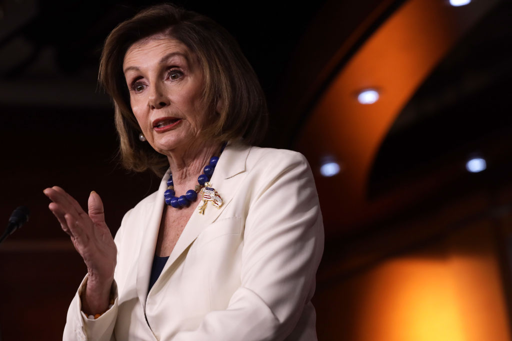 U.S. Speaker of the House Rep. Nancy Pelosi (D-CA) speaks during her weekly news conference December 5, 2019 on Capitol Hill in Washington, DC.