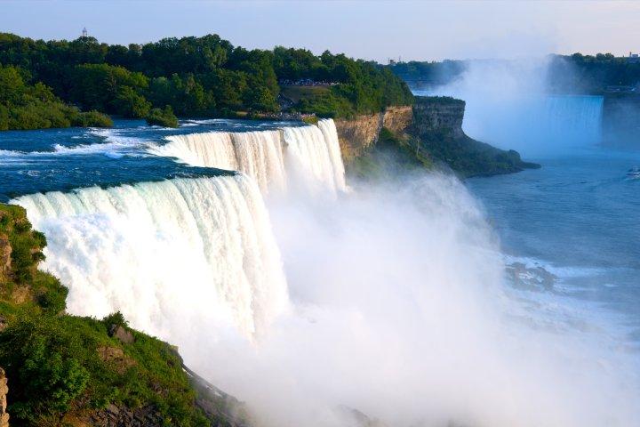 View of Niagara Falls in New York.