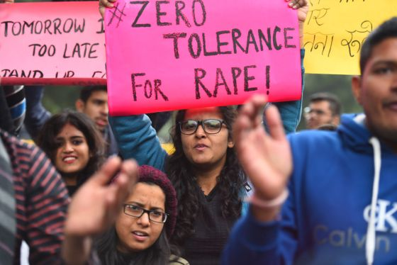 Protest On The Seventh Anniversary Of The Nirbhaya Rape Case