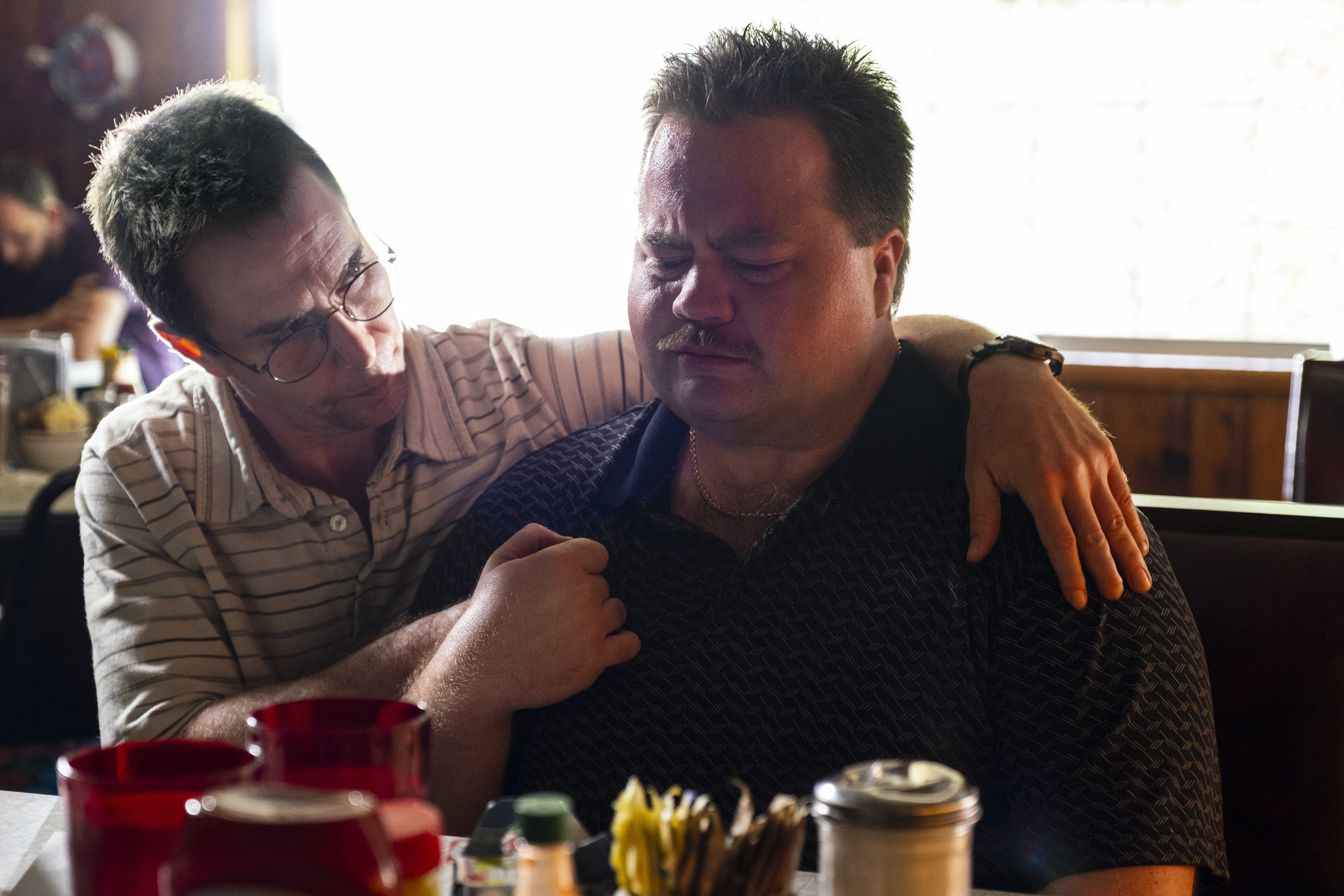Sam Rockwell and Paul Walter Hauser in 'Richard Jewell'