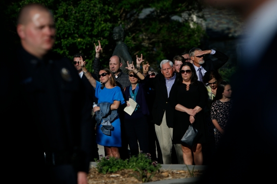 Memorial Service Held For Slain UNC Student Riley Howell Who Tackled Campus Shooter