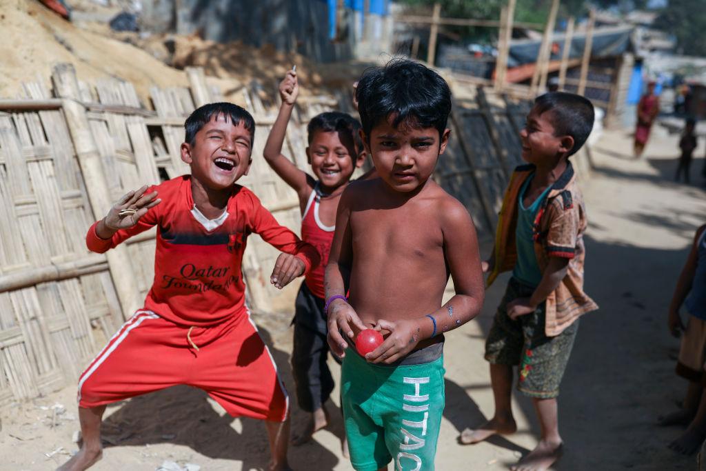 Rohingya children in the Balukhali camp in Cox's Bazar Bangladesh on February 14, 2019.
