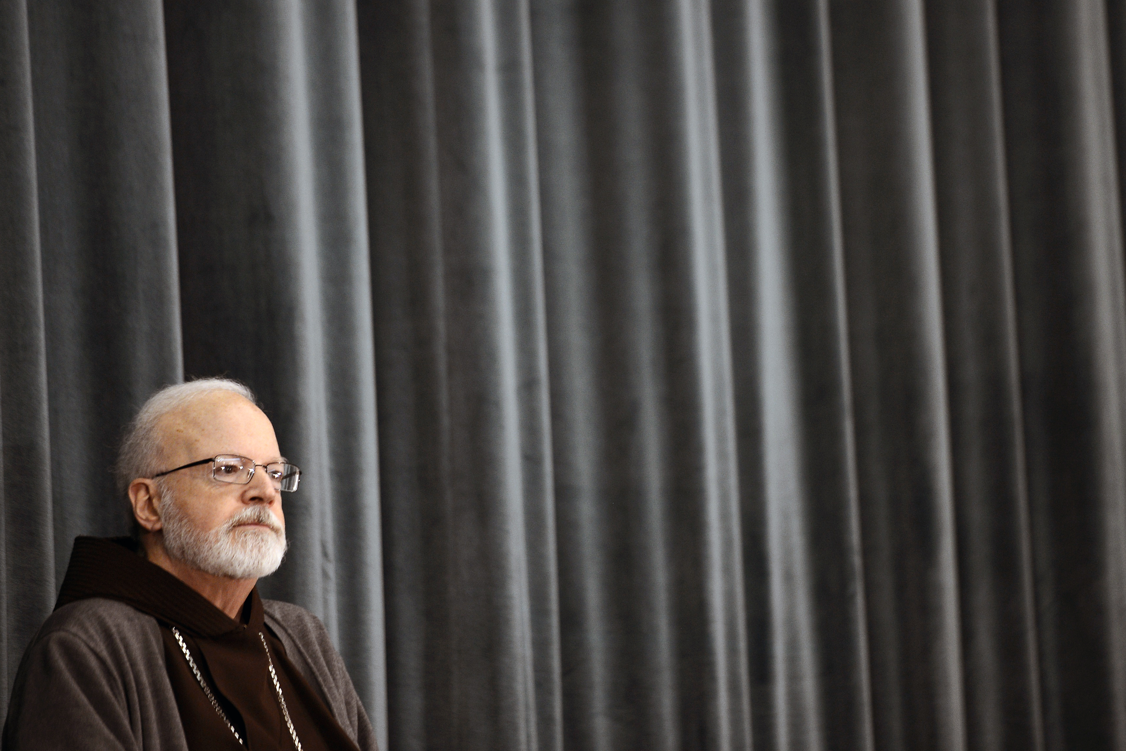 Cardinal Sean Patrick O'Malley listens during a press conference on March 5, 2013 in Rome.