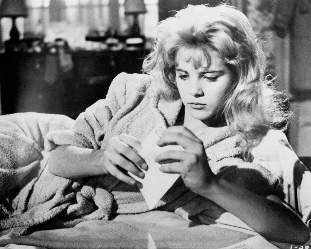 American actress Sue Lyon (as Dolores 'Lolita' Haze) in a scene from Stanley Kubrick's 1962 film 'Lolita.'