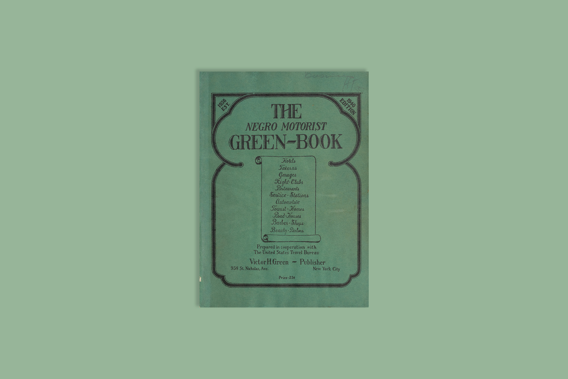 Cover of the book  The Negro Motorist Green-Book