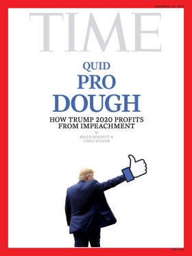Quid Pro Dough Trump Facebook Time Magazine Cover