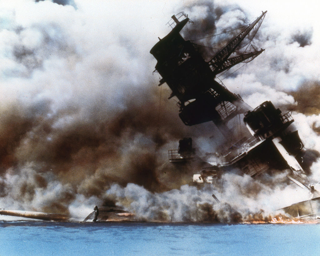 Image result for uss arizona aflame images