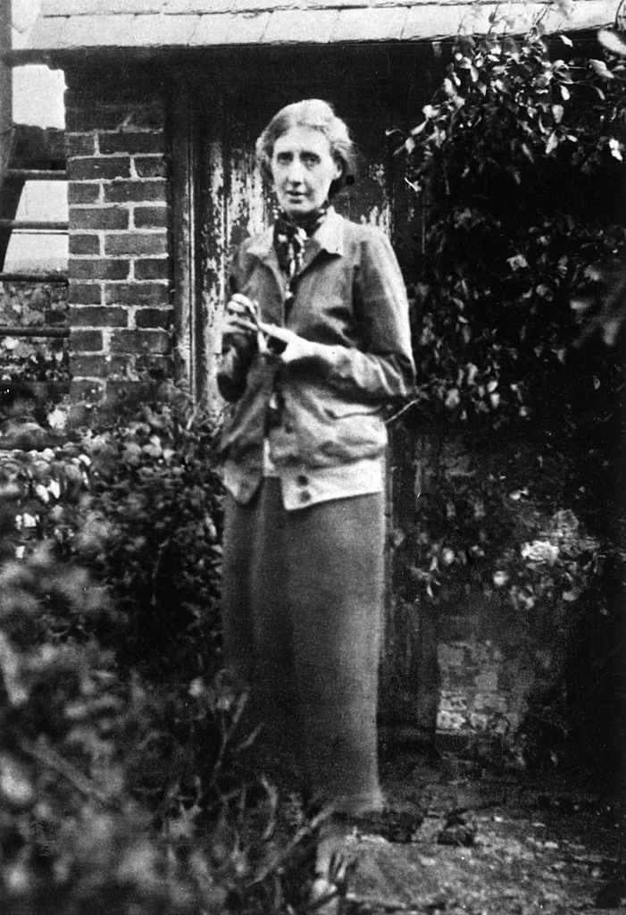 British writer Virginia Woolf in the garden of her house in Rodmell. Rodmell, 1926