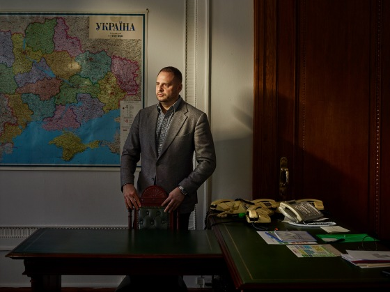 Andriy Yermak, a top adviser to Zelensky, at his office in Kyiv on Dec. 4