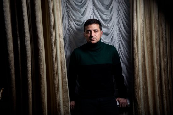 "Zelensky on Nov. 30 in his Kyiv office, which he likens to a ""fortress that I just want to escape"""