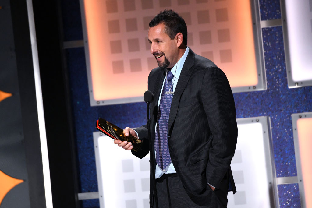 Adam Sandler accepts Best Actor for 'Uncut Gems' onstage during AARP The Magazine's 19th Annual Movies For Grownups Awards at Beverly Wilshire, A Four Seasons Hotel on January 11, 2020 in Beverly Hills, California.