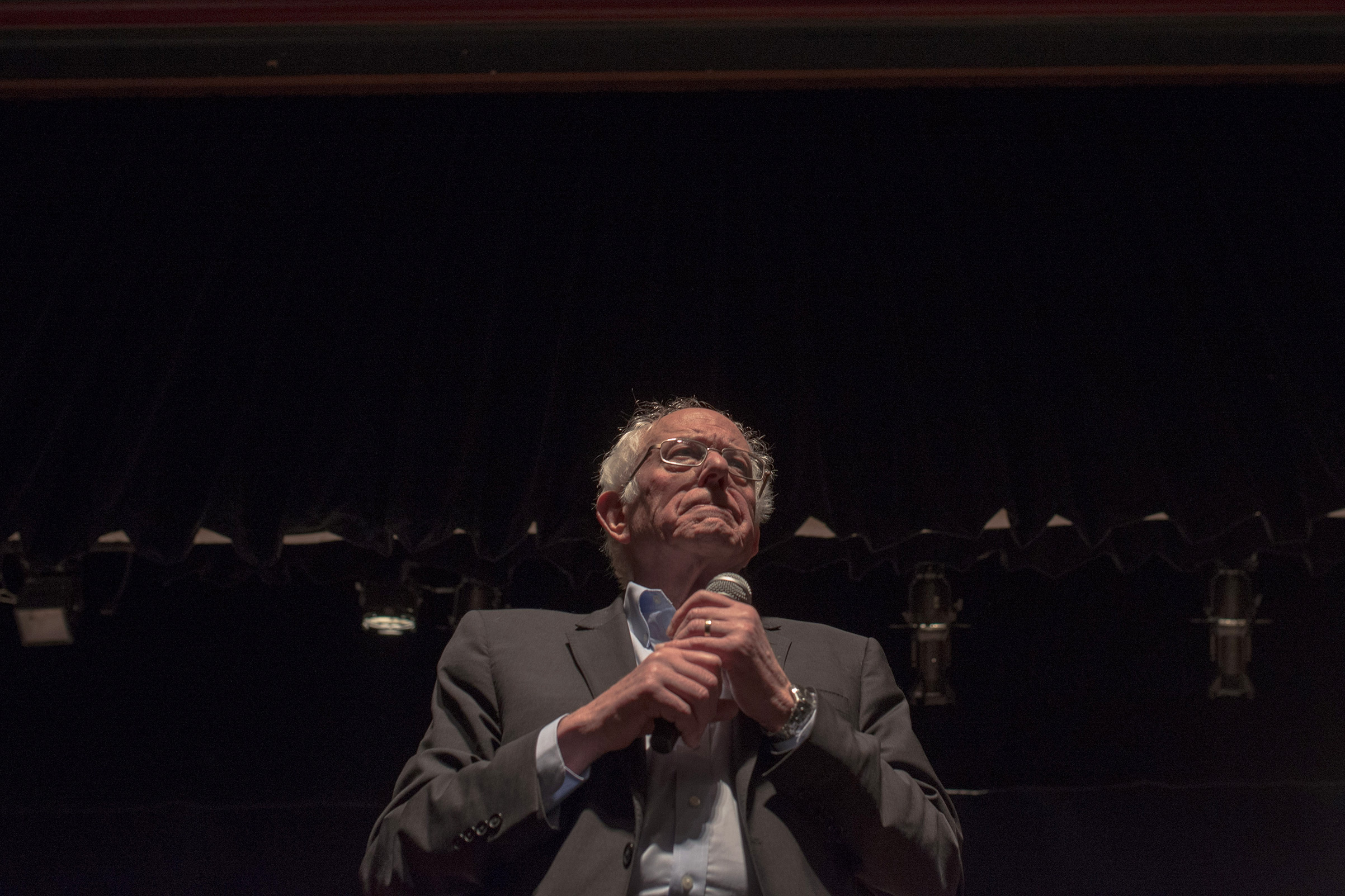 Democratic presidential candidate Sen. Bernie Sanders (I-VT) at a campaign rally in Ames, Iowa, Jan. 26, 2020.