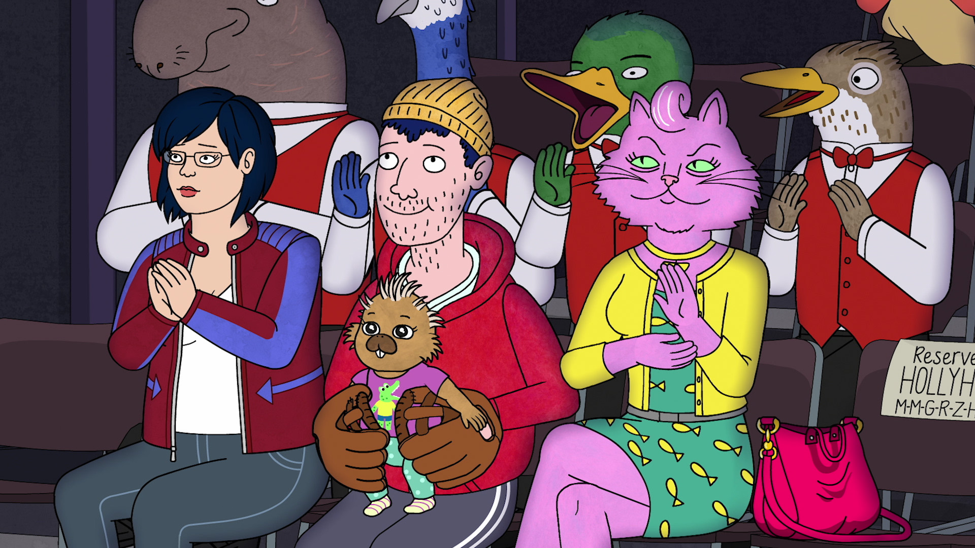 Diane, Todd and Princess Carolyn in BoJack Horseman's final season