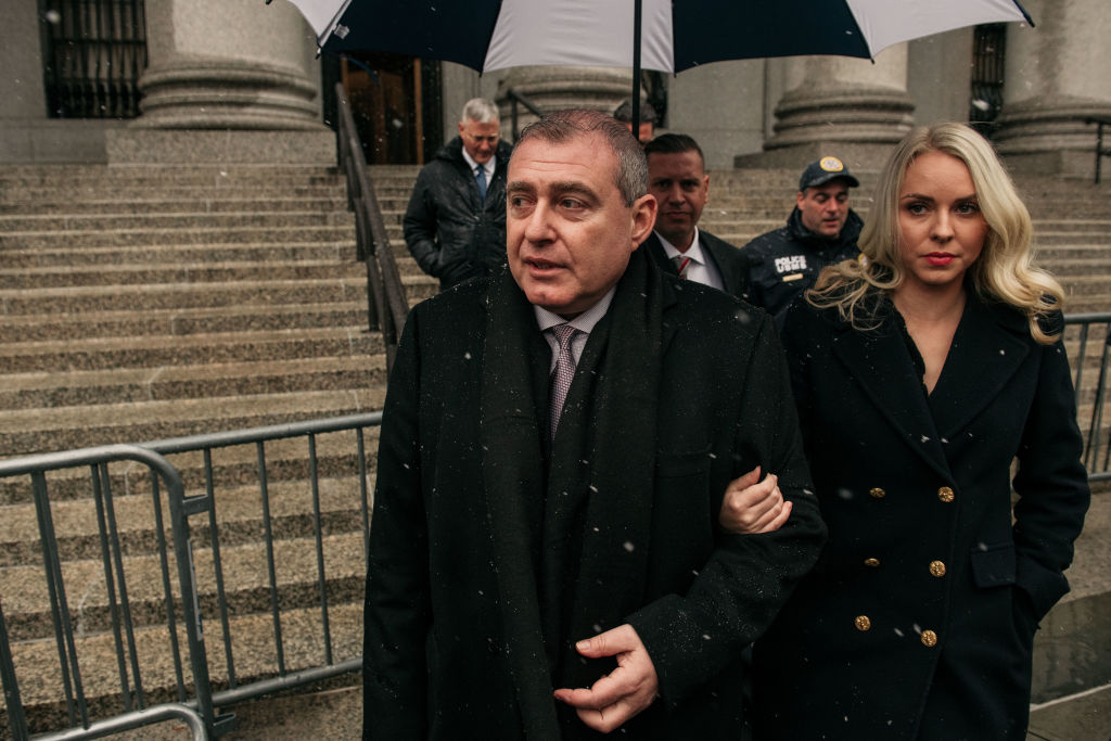 Lev Parnas and his wife Svetlana Parnas arrive to the Southern District of New York Courthouse in New York City on December 2, 2019.