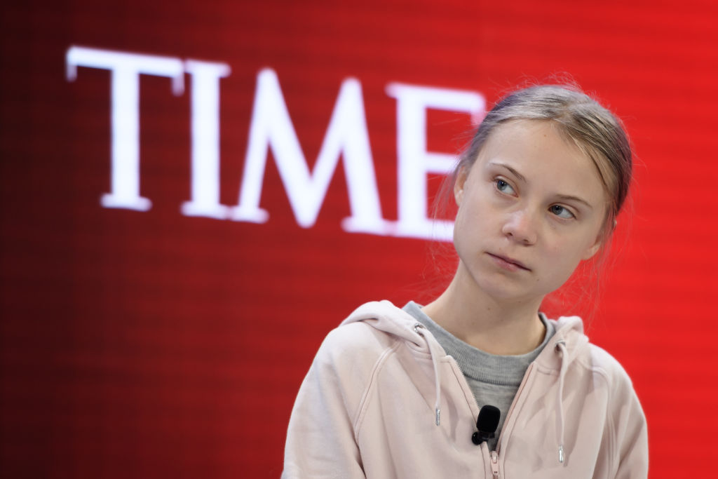 Swedish climate activist Greta Thunberg at TIME's panel during the World Economic Forum (WEF) annual meeting in Davos, on Jan. 21, 2020.