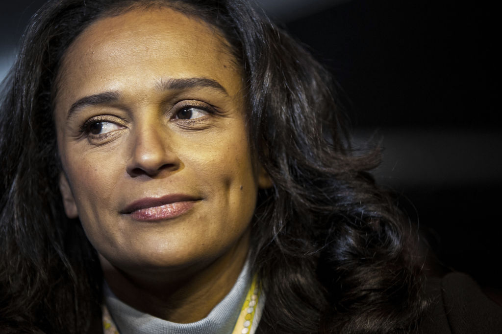Isabel dos Santos, billionaire and former chairman of Sonangol Holding-Sociedade Nacional de Combustiveis de Angola EP, attends the inauguration of Efacec Power Solutions SA's new electric mobility industrial unit in Maia, Portugal, on Monday, Feb. 5, 2018.
