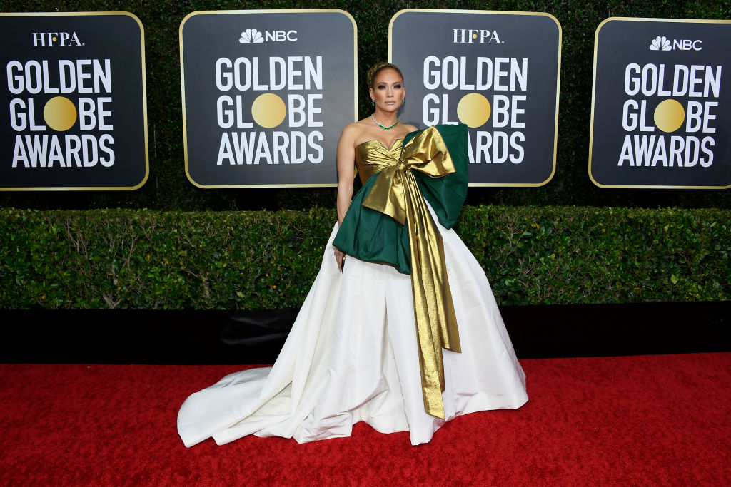 Jennifer Lopez arrives to the 77th Annual Golden Globe Awards held at the Beverly Hilton Hotel on Jan. 5, 2020.