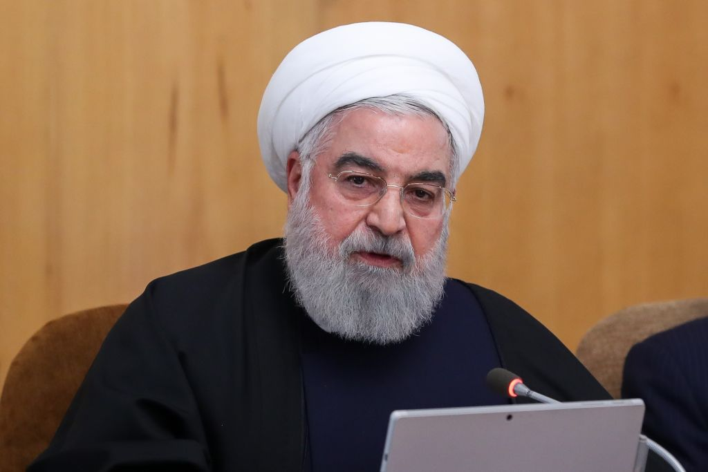 Iranian President Hassan Rouhani chairs the cabinet meeting in Tehran, Iran on January 08, 2020.