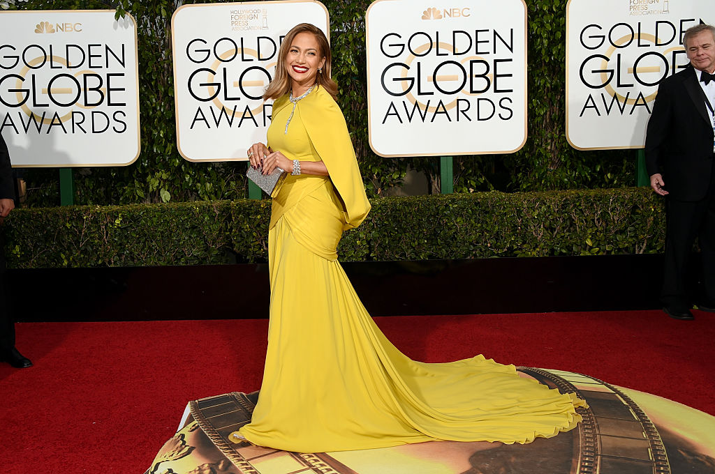 Jennifer Lopez attends the 73rd Annual Golden Globe Awards held at the Beverly Hilton Hotel on January 10, 2016 in Beverly Hills, California.