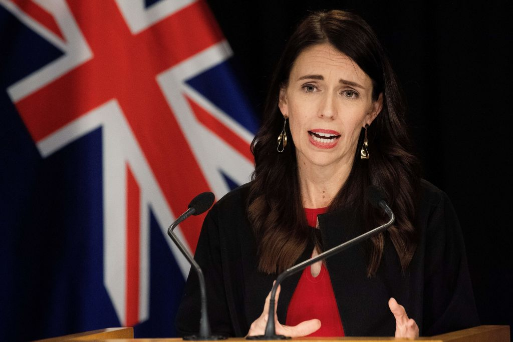 New Zealand Prime Minister Jacinda Ardern speaks during a post-cabinet press conference at Parliament in Wellington on Dec. 16, 2019.