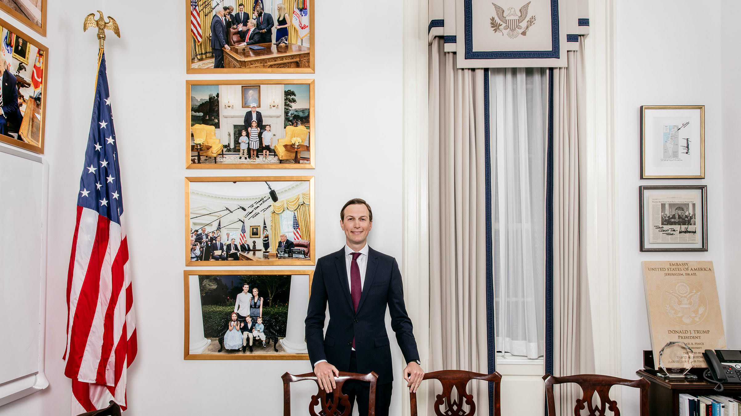 Kushner in his West Wing office.