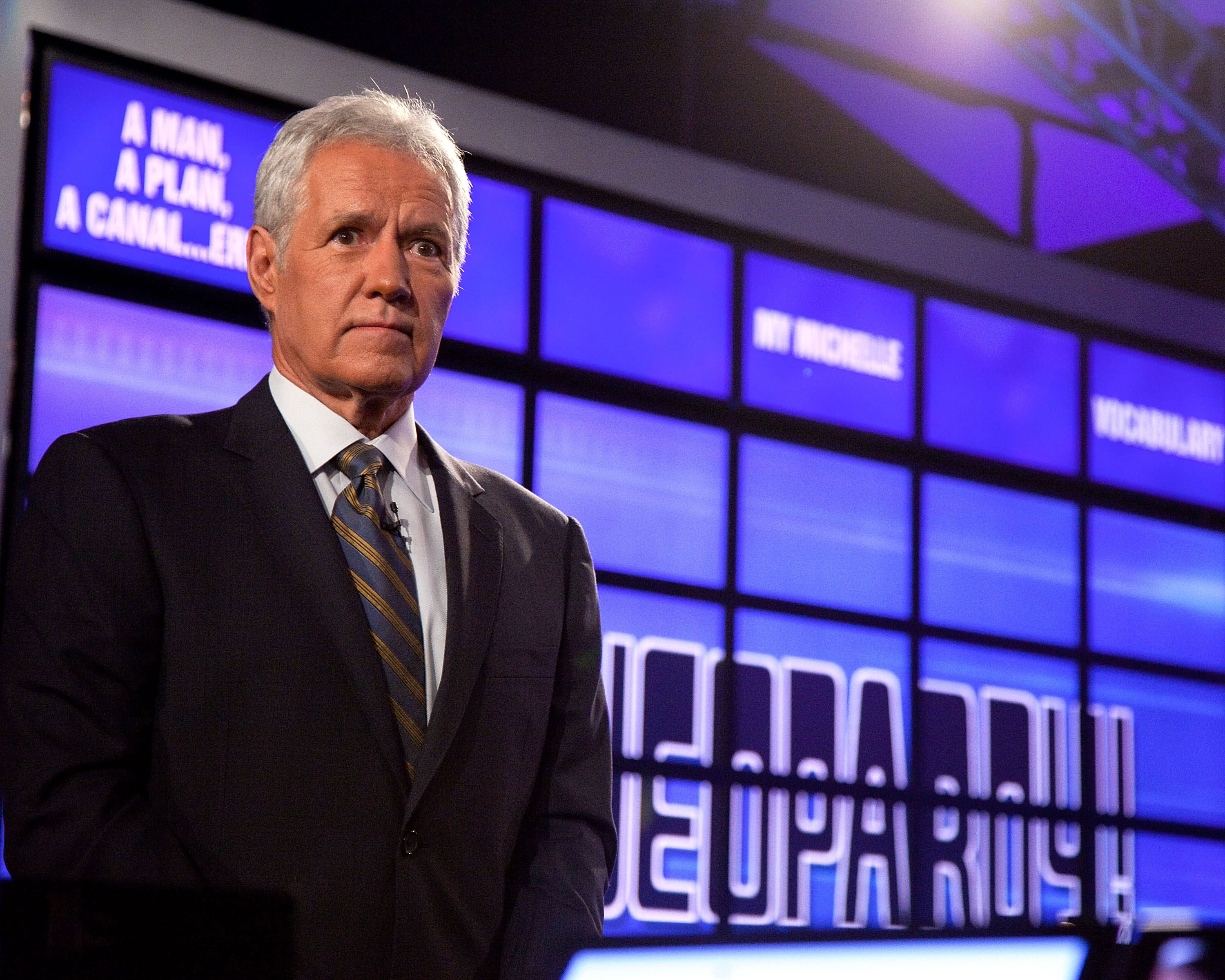 Jeopardy!  host Alex Trebek attends a press conference on Jan. 13, 2011 in New York.