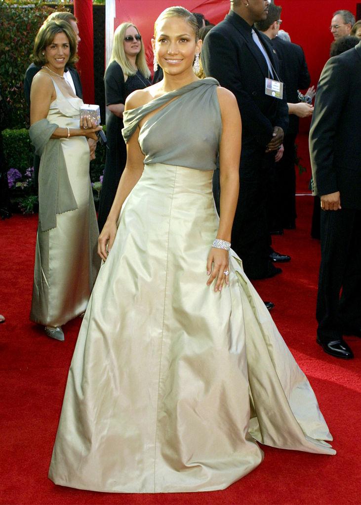 Jennifer Lopez arriving for the 73rd Academy Awards.