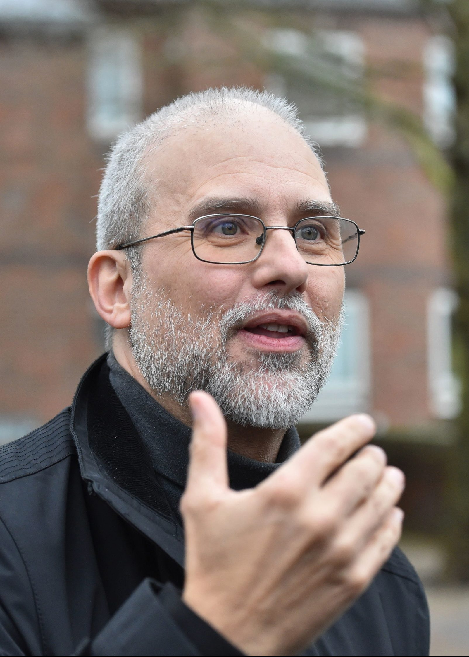 Jordi Casamitjana leaves an Employment Tribunal after it ruled that ethical veganism is a philosophical belief and is therefore protected by law, outside the court in Norwich, England on Jan. 3, 2020.