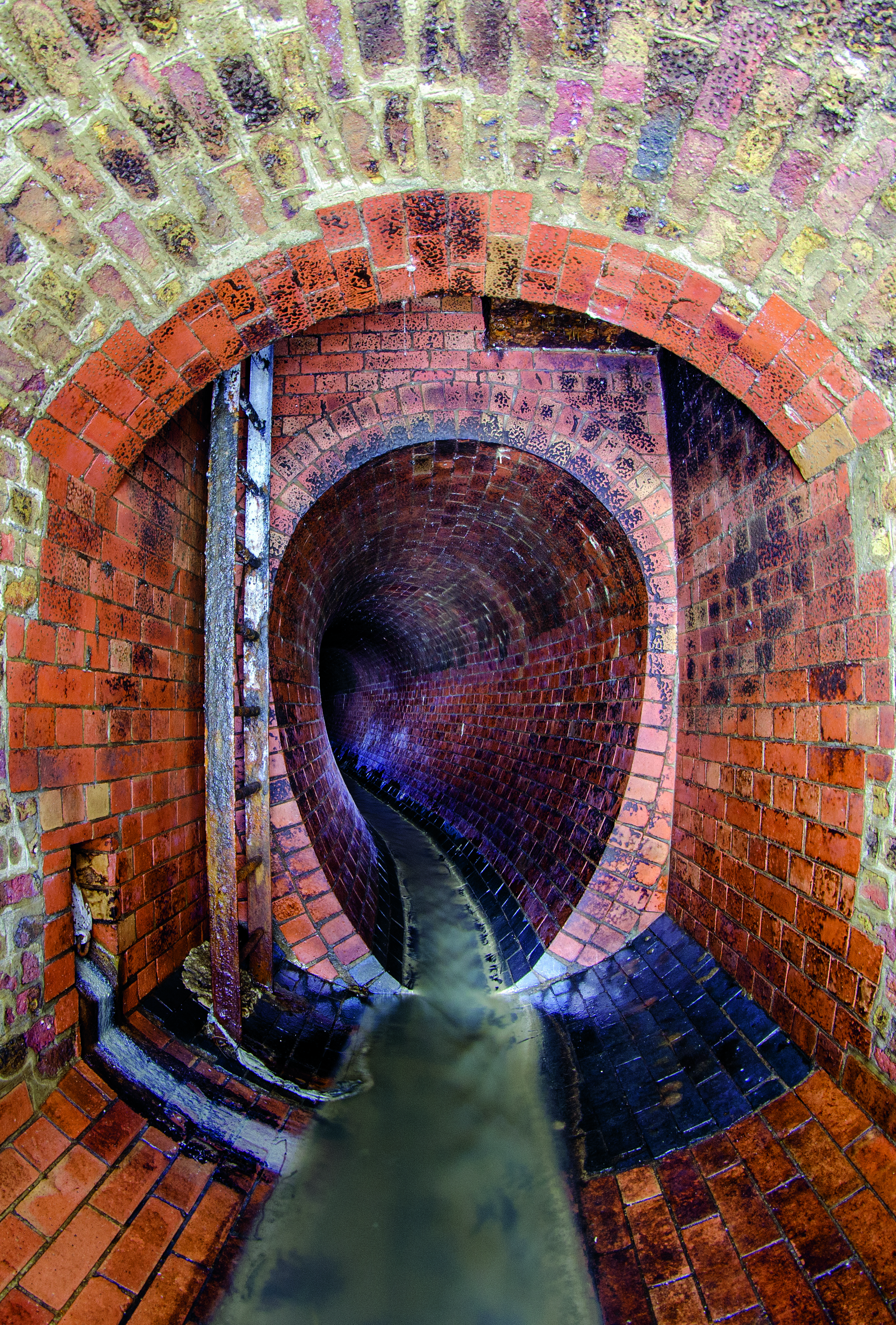 This undated photo was taken in King's Scholars' Pond Sewer in London, UK.