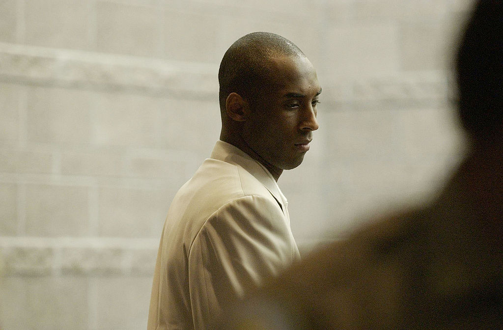 Kobe Bryant, the Los Angeles Lakers basketball player, attends an advisement hearing at the Eagle County Justice Center August 6, 2003 in Eagle, Colorado. Bryant was in court to hear the sexual assault charges against him.