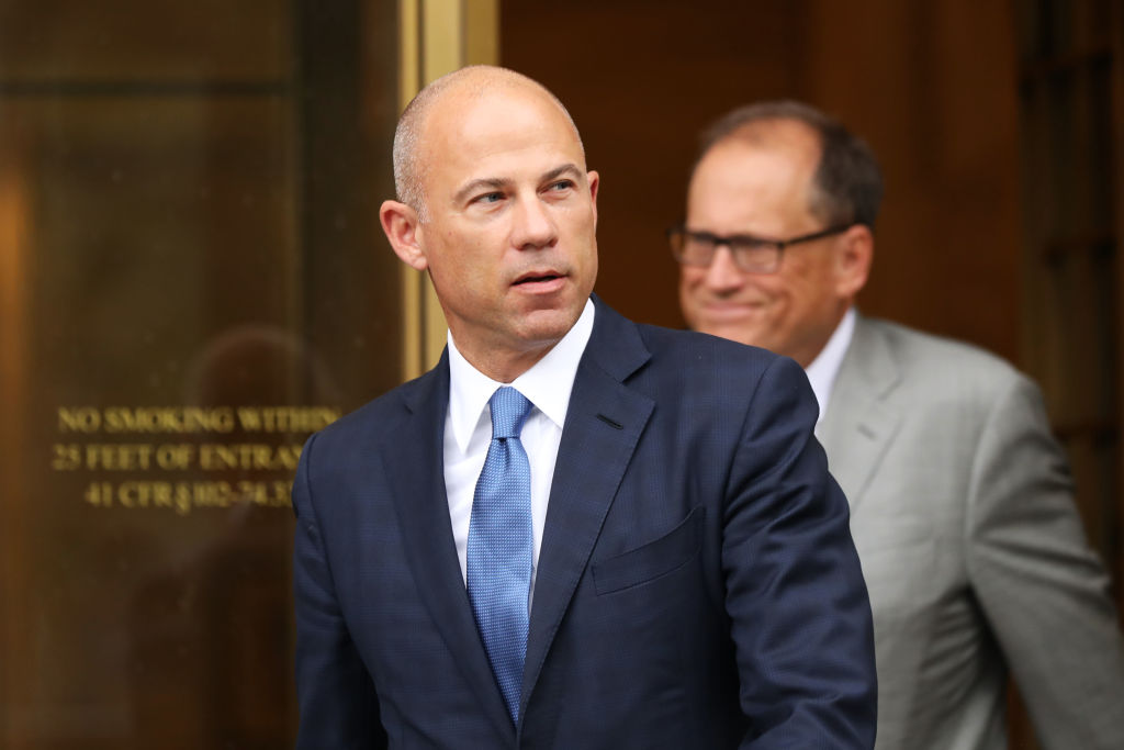 Celebrity attorney Michael Avenatti walks out of a New York court house on July 23, 2019.