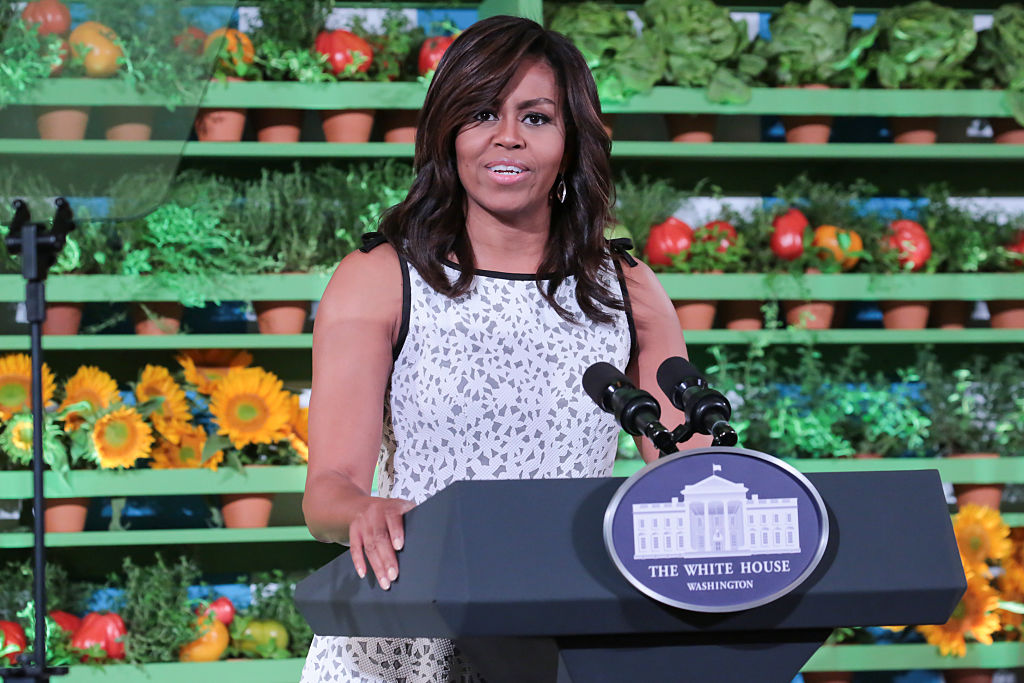 First Lady Michelle Obama hosted the 2016 Kids'  State Dinner,  welcoming the 56 winners of this year's Healthy Lunchtime Challenge.