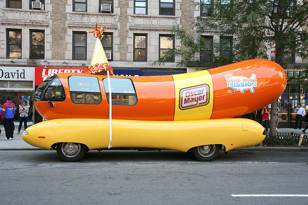 General view of atmosphere at Oscar Mayer Wienermoblie 75th Birthday celebration at West 75th Street on July 18, 2011 in New York City.