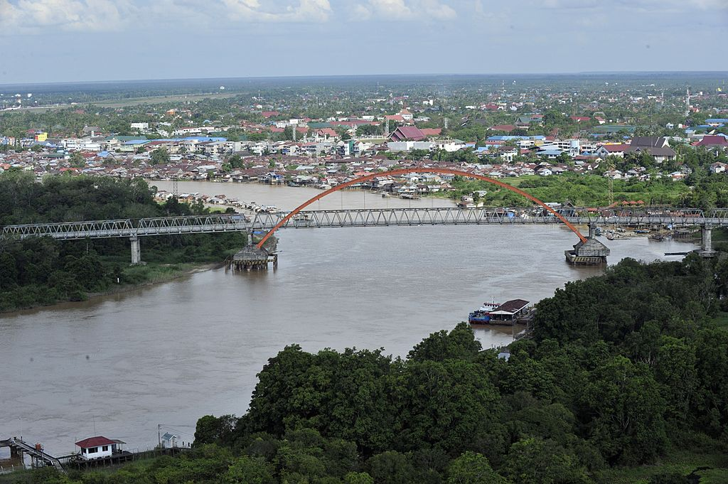 A bridge over the Palangkaraya river in Palangkaraya, capital of Central Kalimantan province located in Indonesia's Borneo island on June 7, 2012.