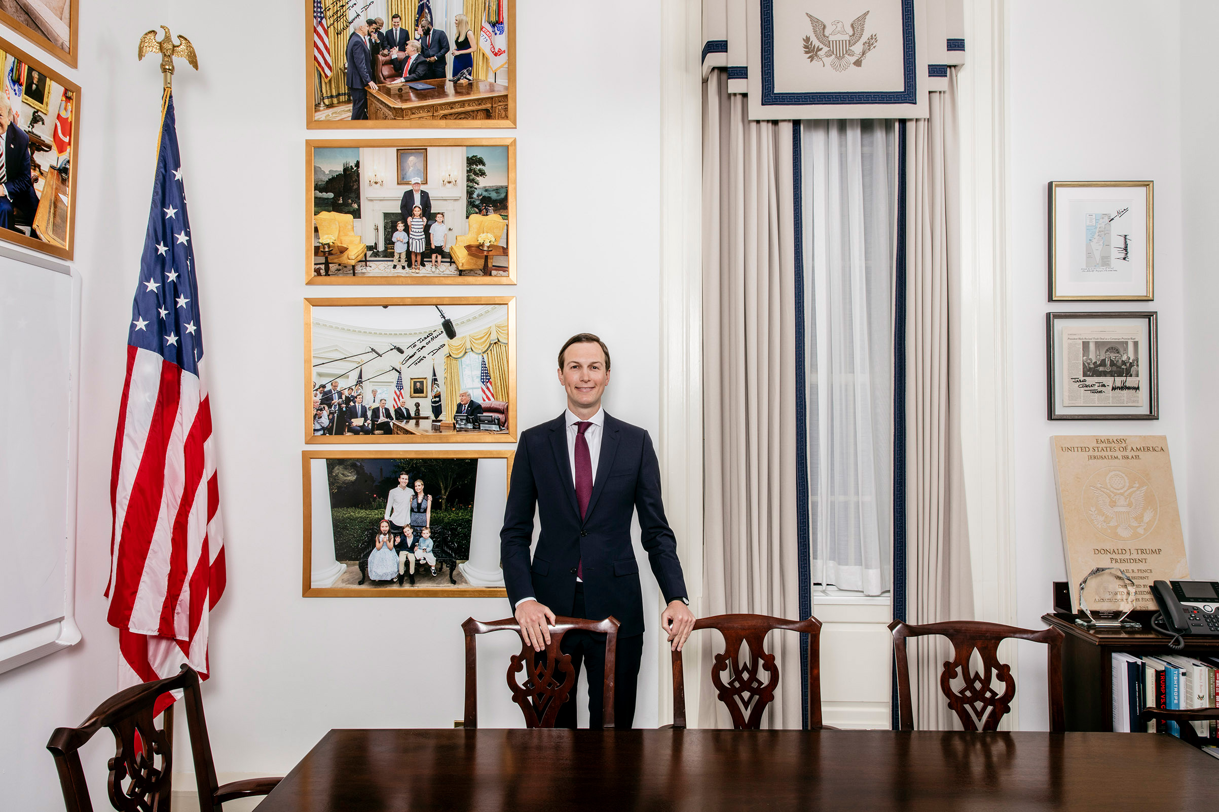 Kushner in his West Wing office, Jan. 7, 2019.