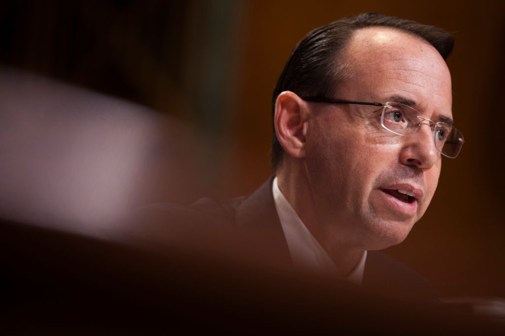 Rod Rosenstein Authorized the Release of Text Messages Between FBI Employees Peter Strzok and Lisa Page: Court Filing