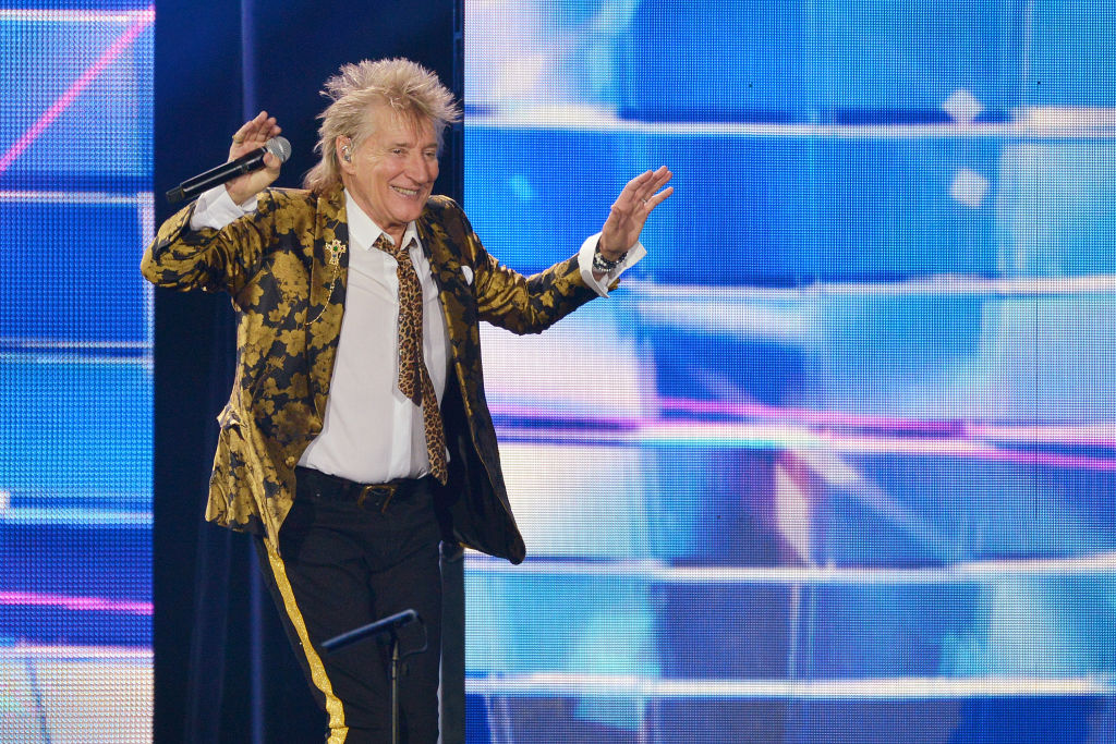 Sir Rod Stewart performs live on stage during his 'Blood Red Roses' tour at The O2 Arena in London, England, on Dec. 17, 2019.