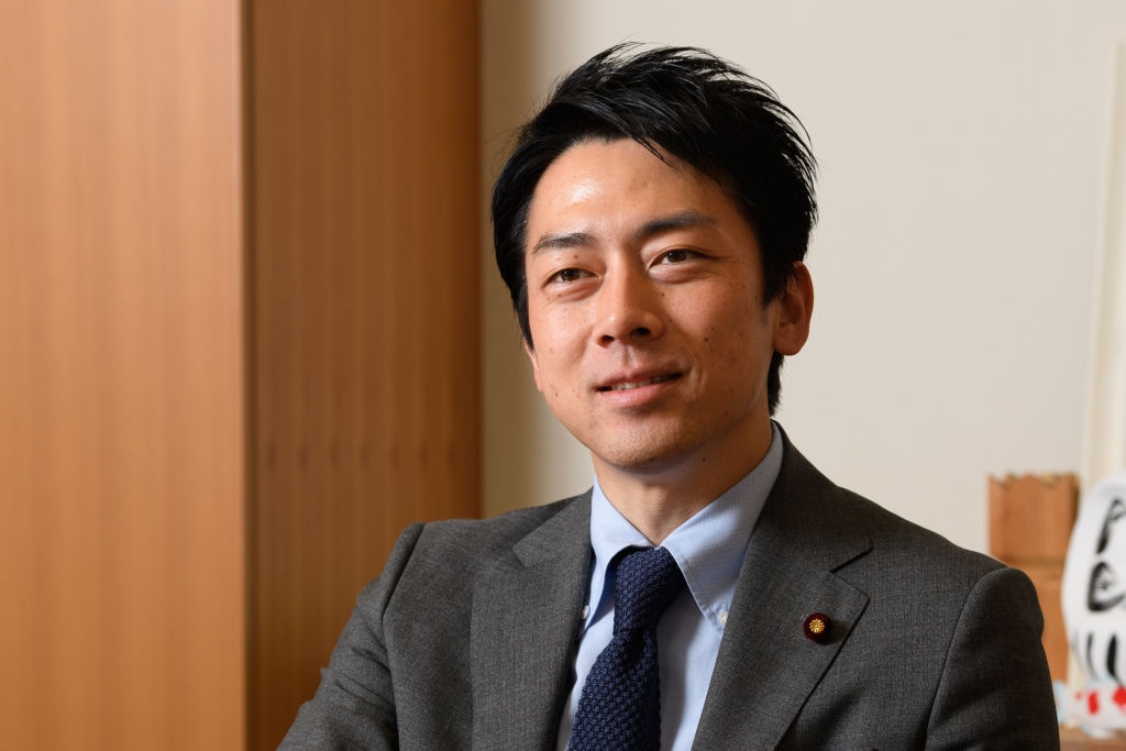Shinjiro Koizumi, a member of the House of Representatives, pauses during an interview in Tokyo, Japan, on May 8, 2019.