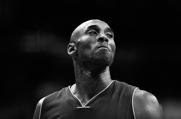 Kobe Bryant #24 of the Los Angeles Lakers looks on against the Washington Wizards in the first half at Verizon Center in Washington, DC on December 2, 2015.
