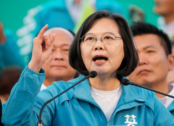 Taiwan Pres. Tsai Ing-wen ahead of election