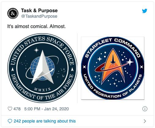 Task & Purpose Starfleet tweet