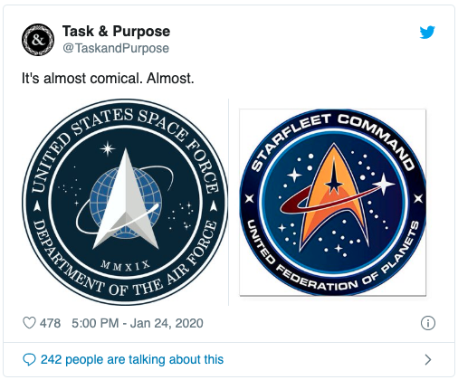 Task & Purpose Starfleet tweet