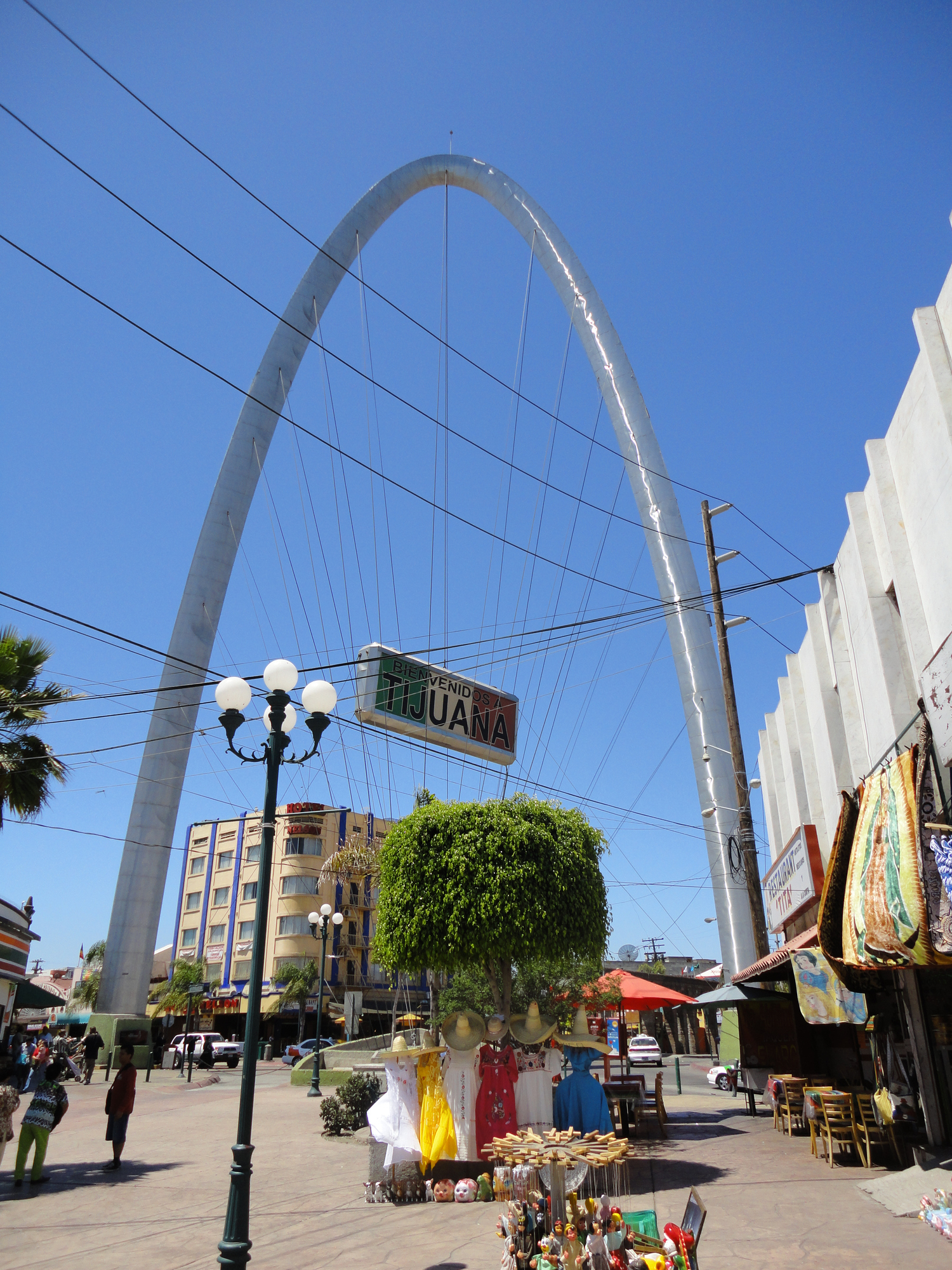 An close up view on the Tijuana Arch located in the city of Tijuana, Baja California, Mexico.