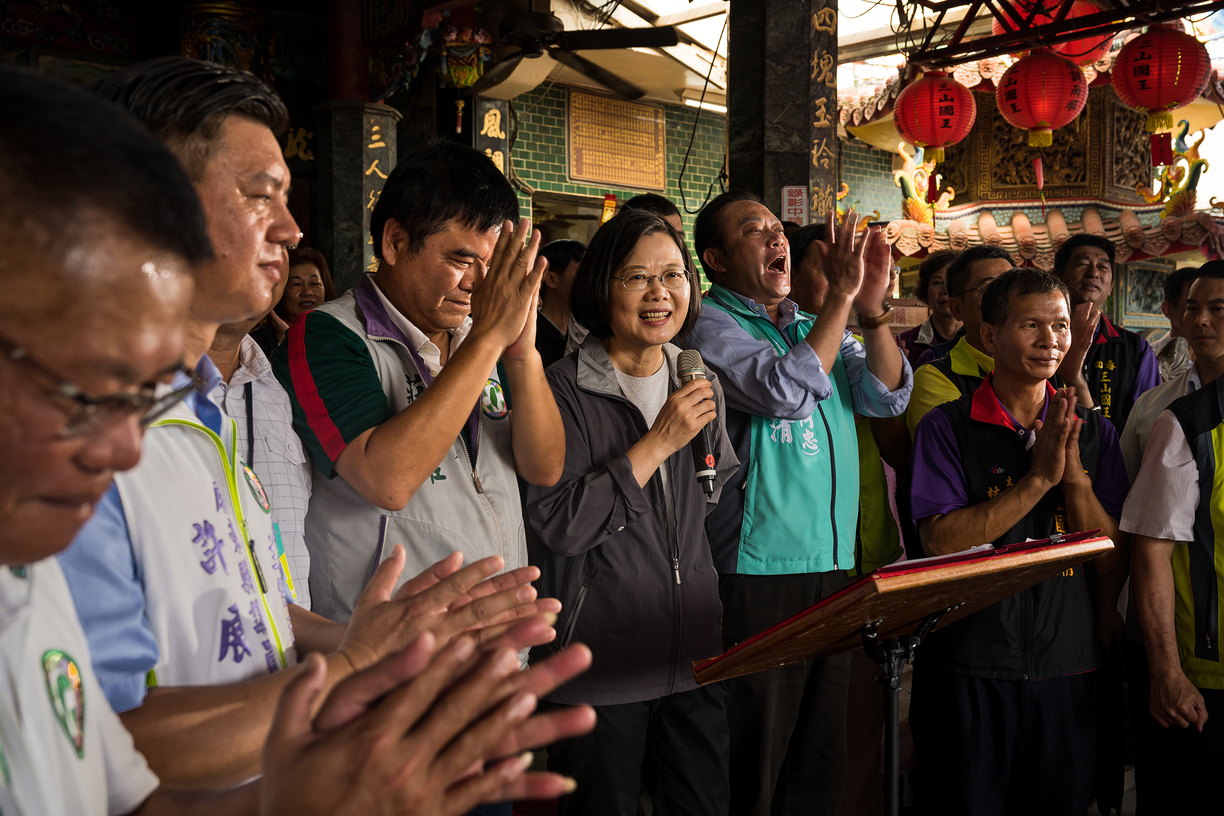 Tsai has been determined to take her message directly to voters on the campaign trail.