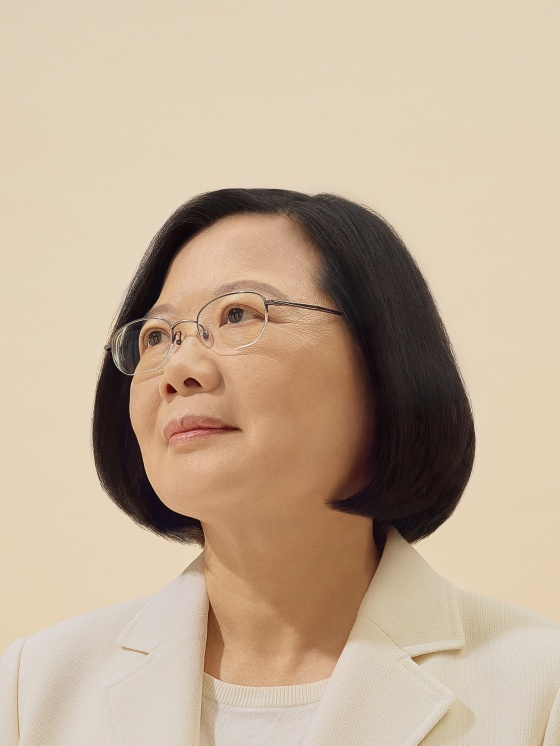 President Tsai, photographed in her Taipei office on Oct. 6